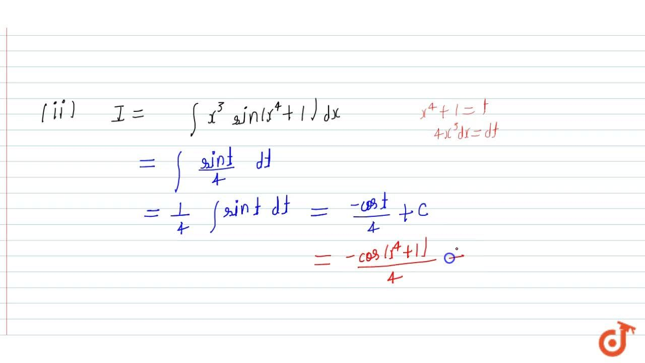 Solution for Evaluate: (i) int(xsin^(-1)x^2),(sqrt(1-x^4))\ dx