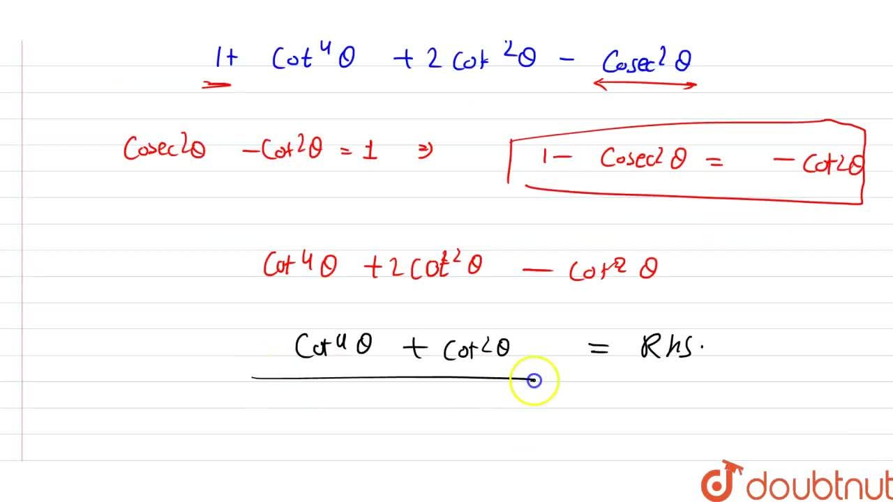 Solution for Prove each of the following identities : <br>  (i