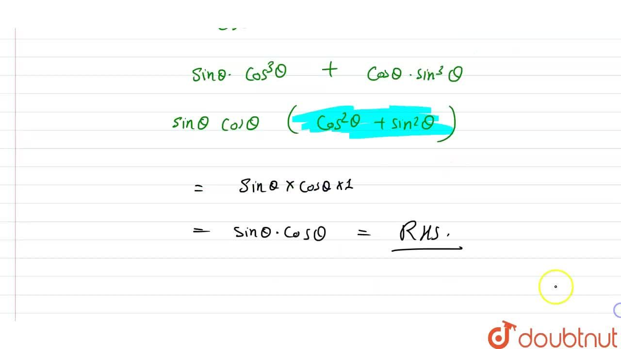 Solution for Prove each of the following identities : <br>  (t