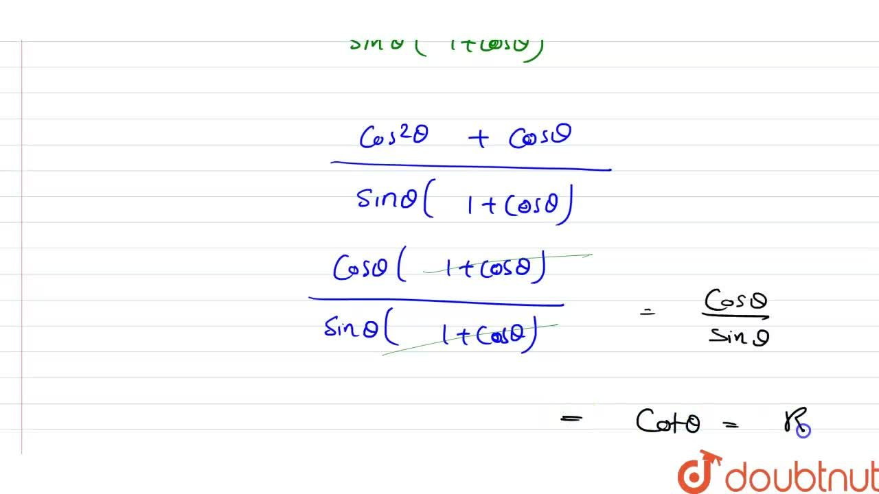 Solution for Prove each of the following identities : <br>  (1