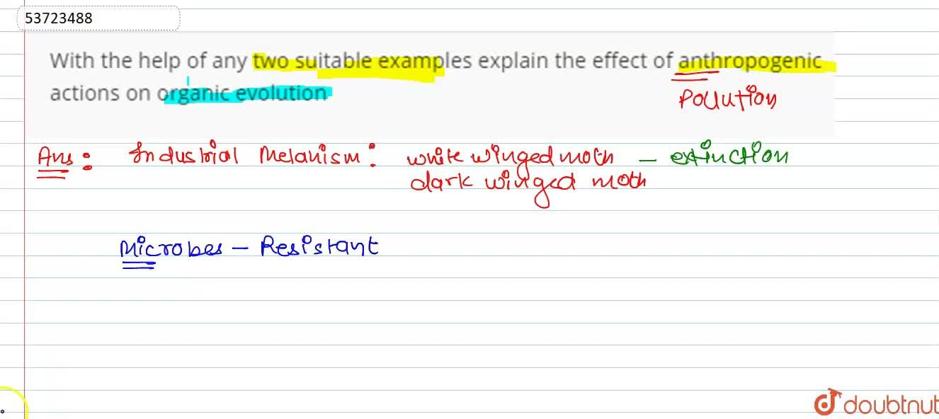 Solution for With the help of any two suitable examples explain