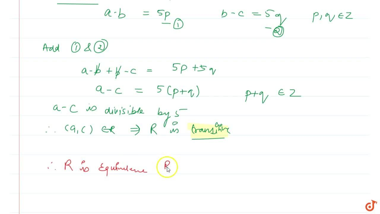 Solution for Prove that the relation R on Z defined by (a