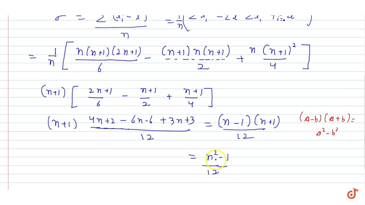 Solution for Find the mean and variance for each of the data :