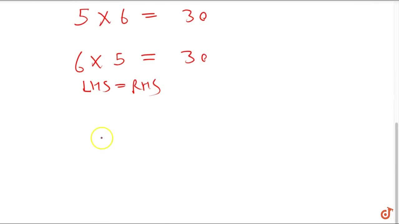 Solution for Property 2 (commutativity): for any two integers a