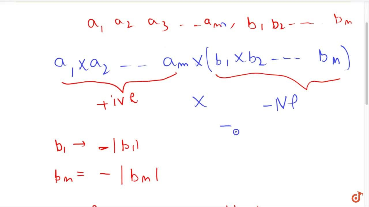 Solution for (iv) when the number of negative integers in a pro