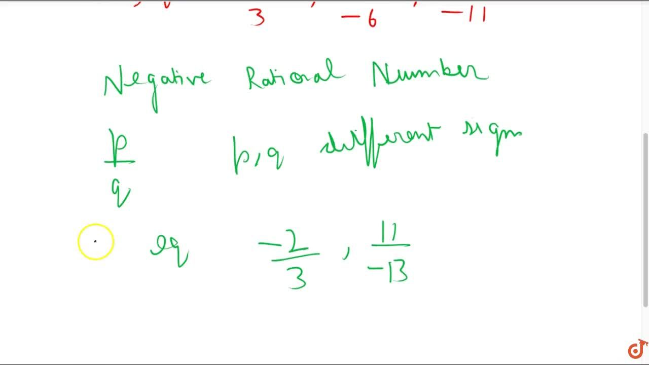 Solution for Positive Rational Number and Negative Rational Num