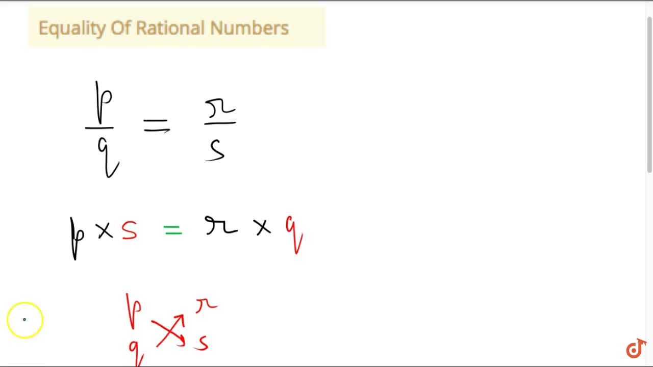 Solution for Equality Of Rational Numbers