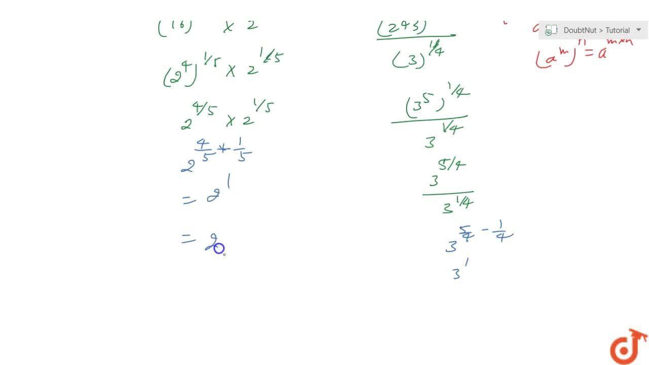 Solution for Simplify each of the following: root(5)(16)xxroot