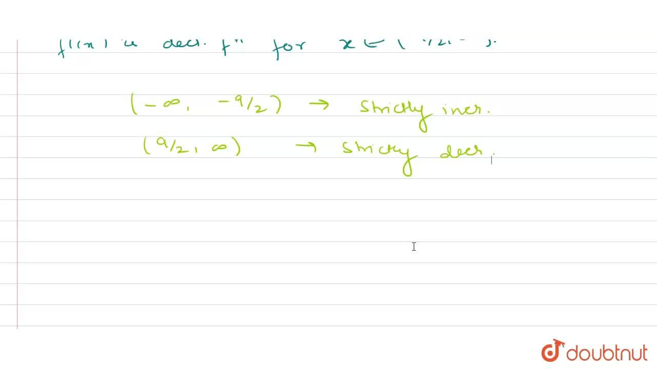 Solution for Find the intervals on which the function f(x) = 6