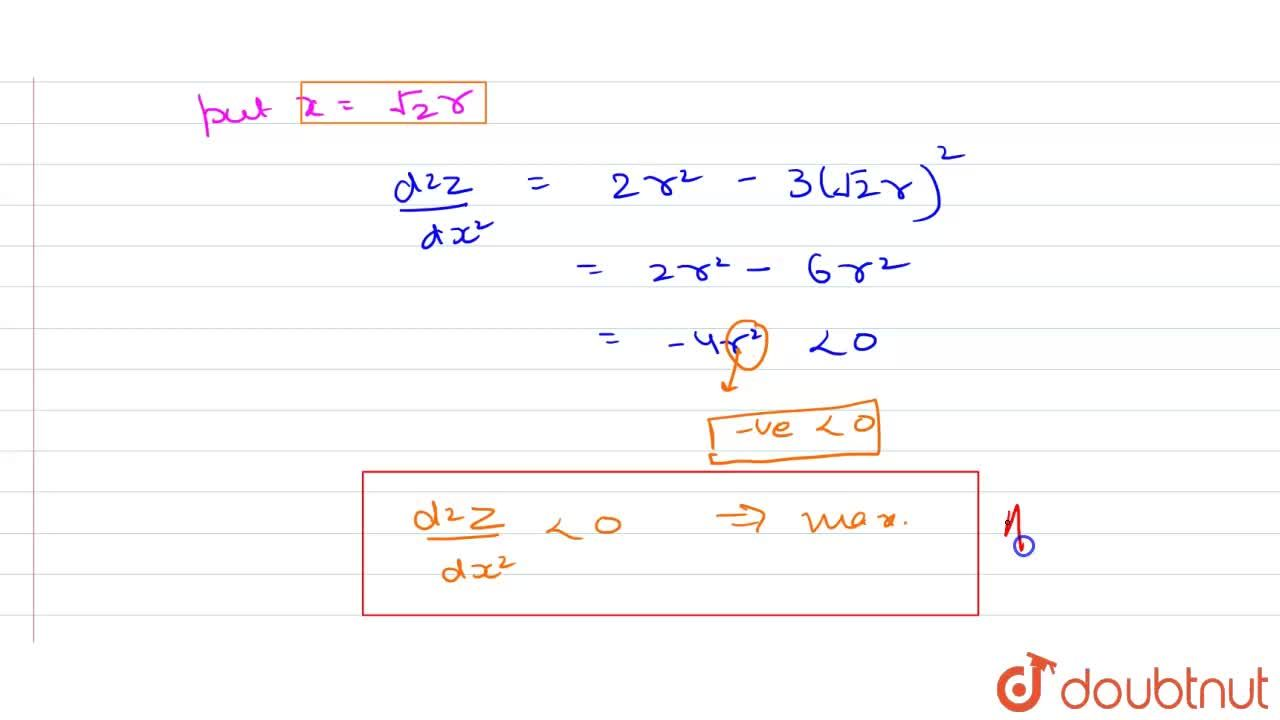 Solution for Show that the right triangle of maximum area that