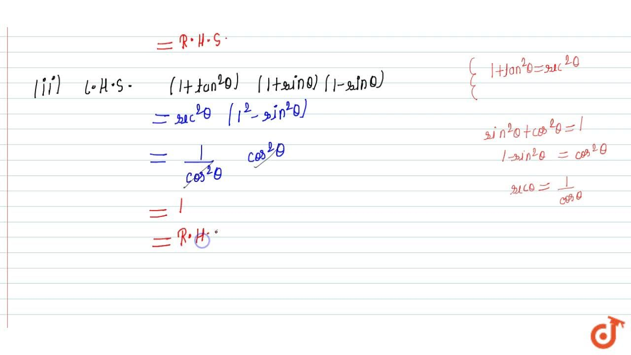 Solution for Prove the   following trigonometric identities :