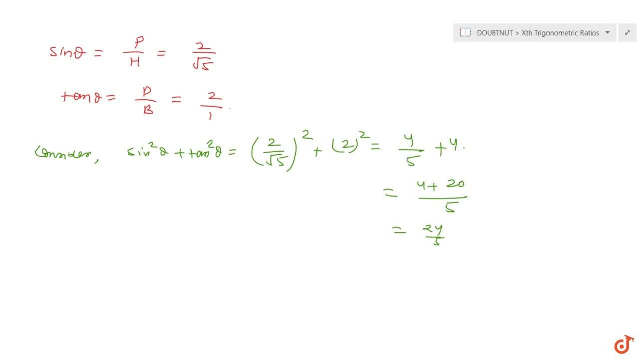 Solution for In a right   triangle A B C right   angled at