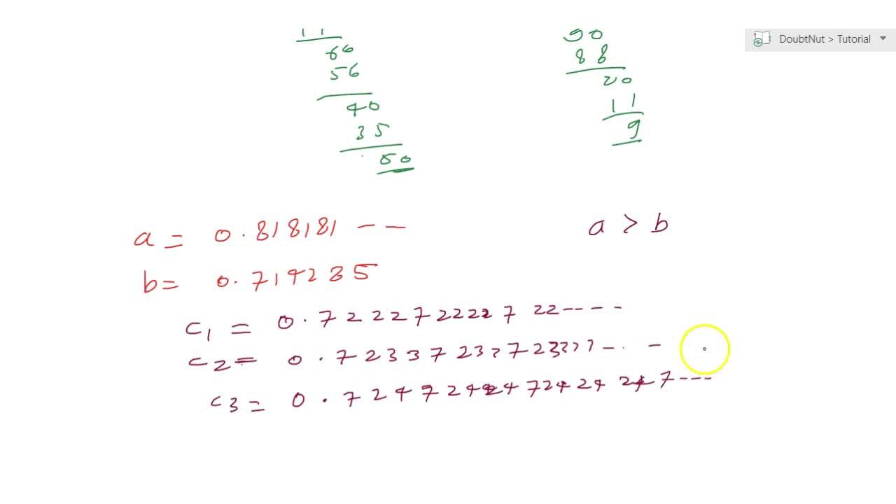 Solution for Find three different irrational numbers between