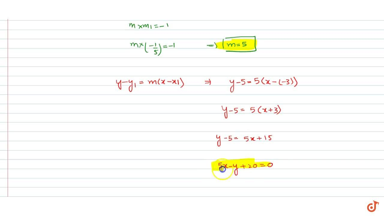 Solution for Find the equation of the line passing through (-3,