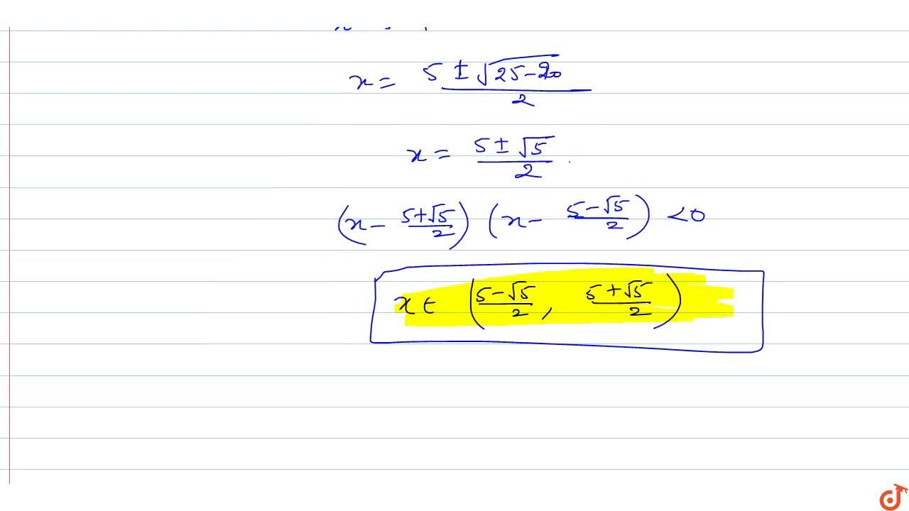 Solution for Solve the inequality : (x^2-1),(x^2+1)+x^2-5x+6<0