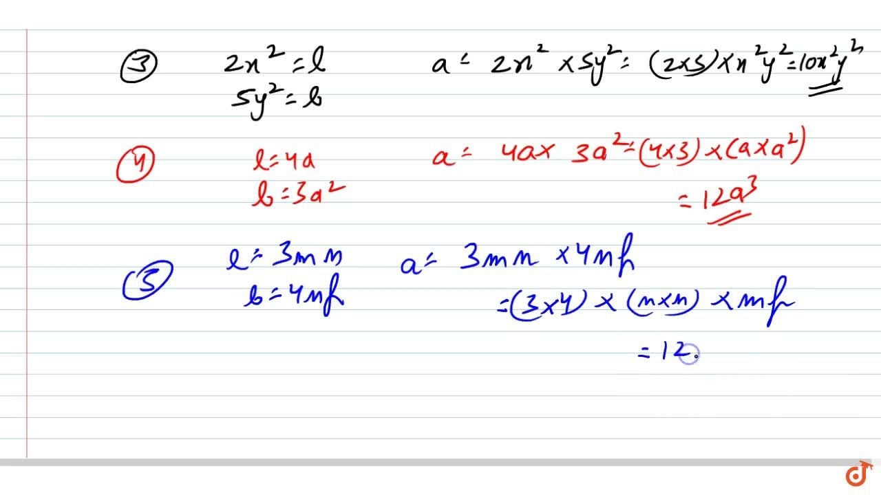 Solution for Find the areas of rectangles with the following