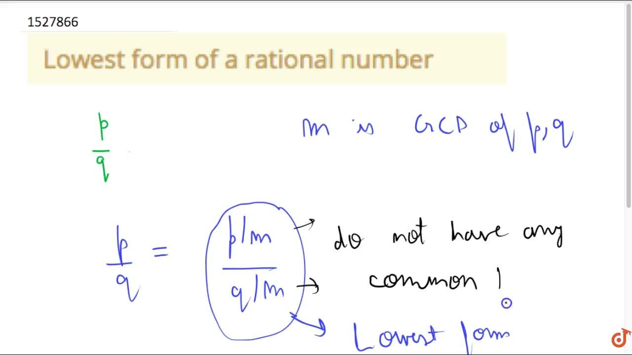 Solution for Lowest form of a rational number