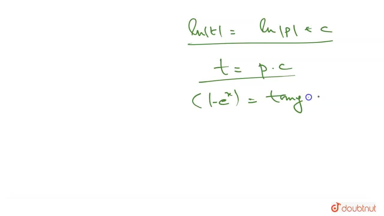 Solution for Solve the differential equation e^(x) tan y dx +