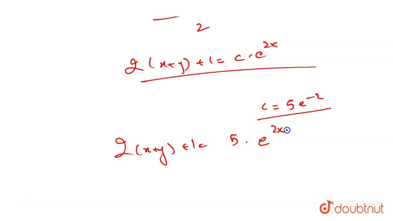 Solution for Find the equation of the curve passing through (1,