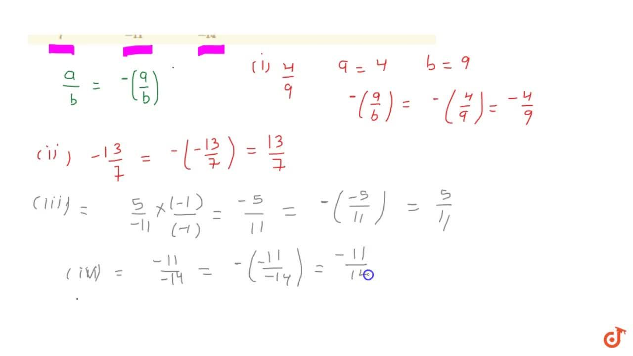 Solution for Write the additive inverse of each of the   follo