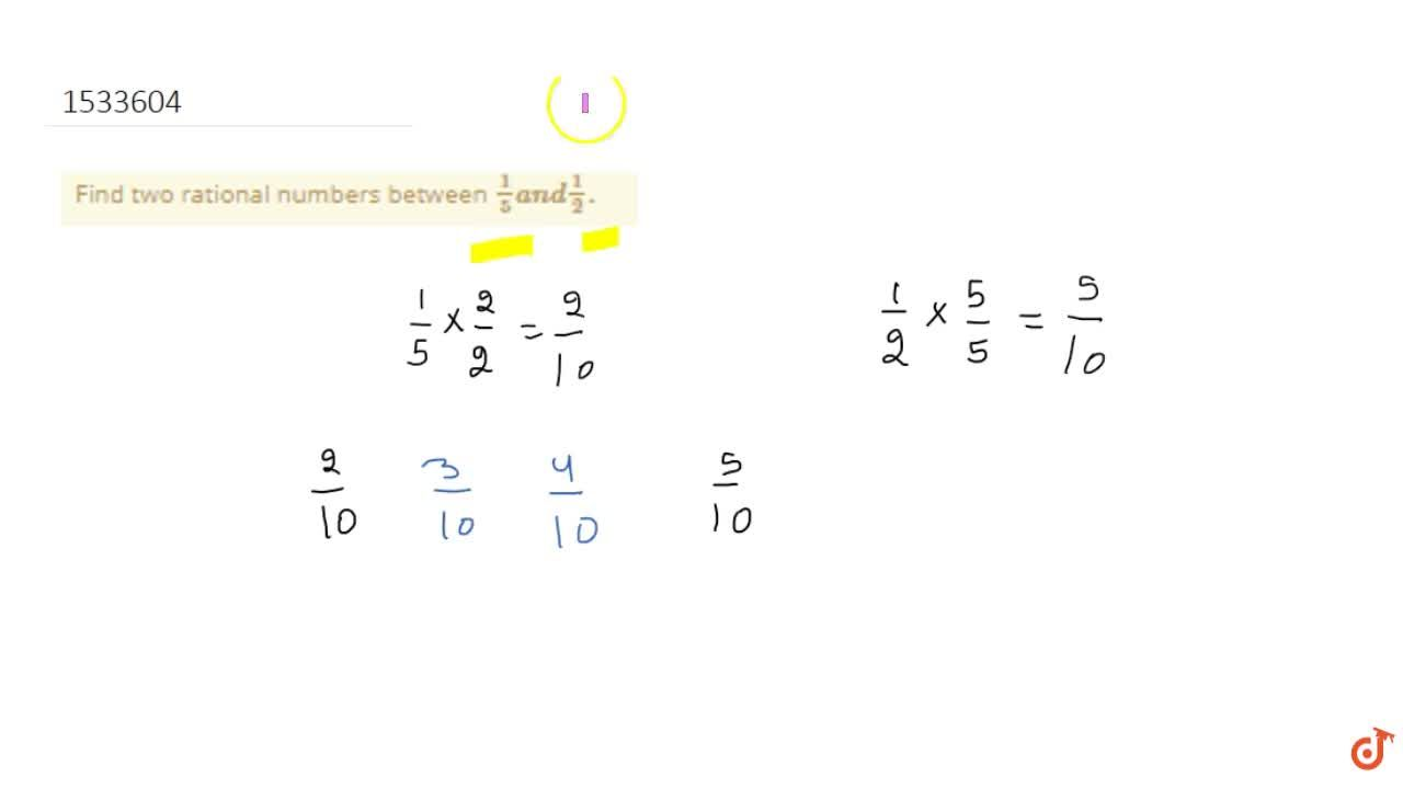 Find two rational numbers between 1,5a n d1,2dot