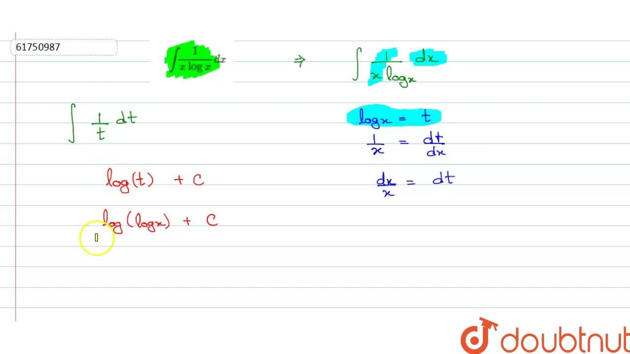 Solution for int(1),(xlogx)dx