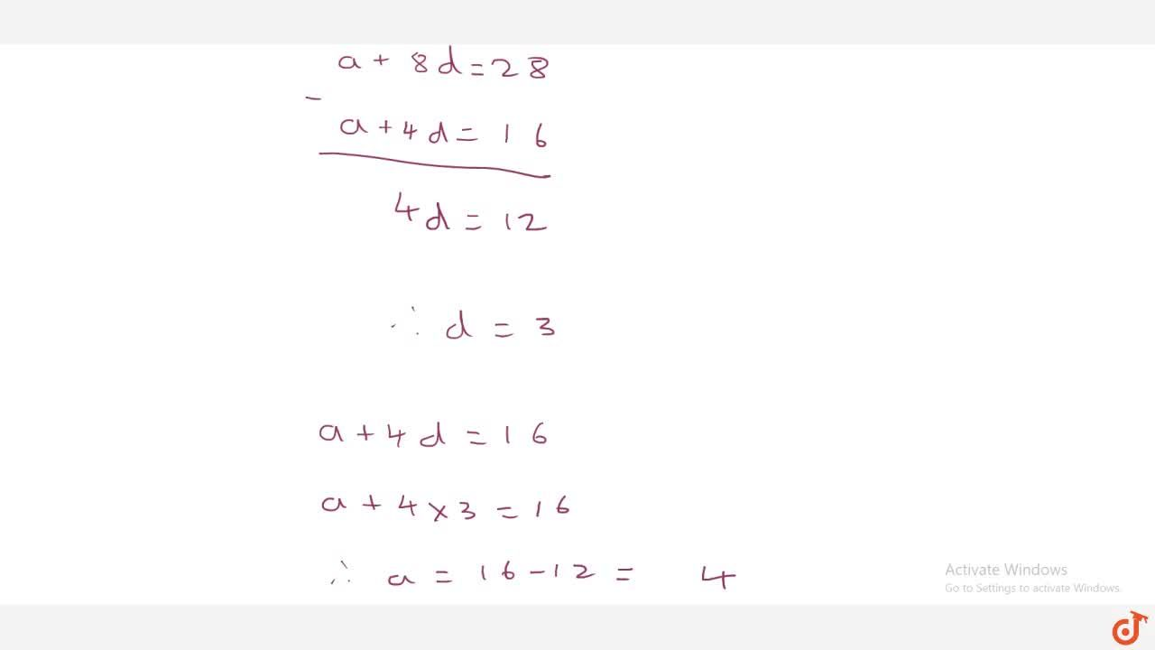 Solution for Let there   be an A.P. with first term ' a ' ,