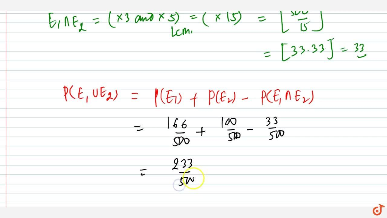 Solution for A natural number is chosen at random from amongst