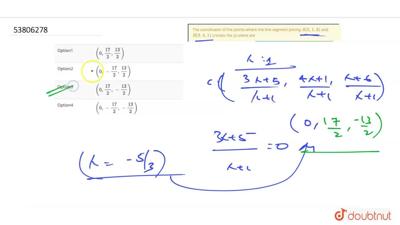 Solution for The coordinates of the points where the line segme