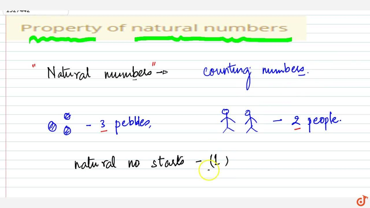 Solution for Property of natural numbers