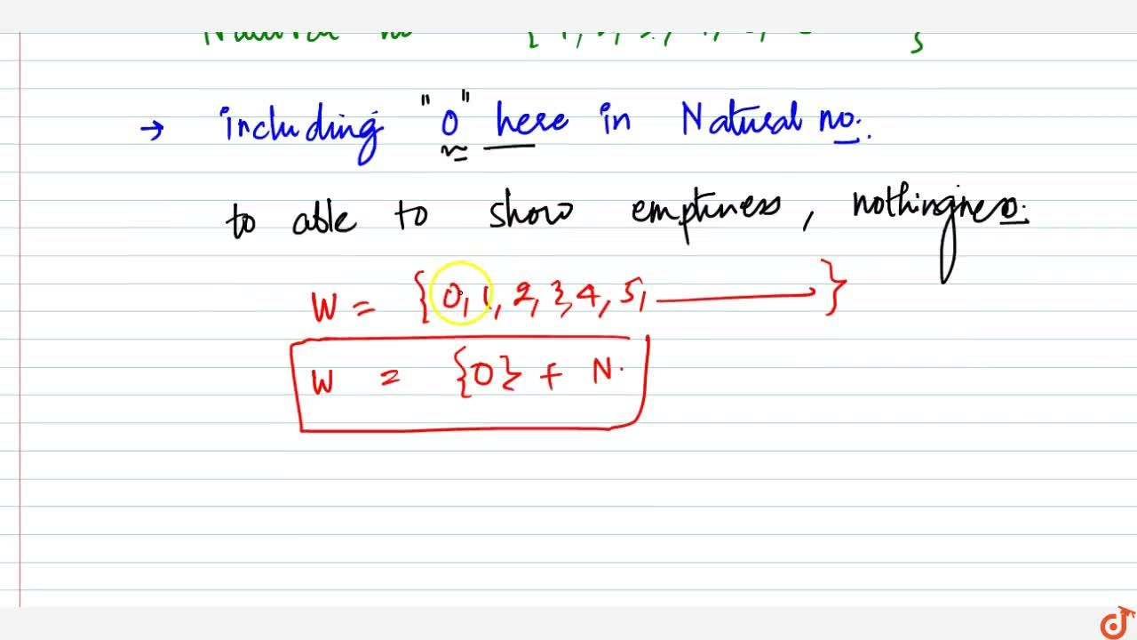 Solution for (i) The number 0 is the first and the smallest who