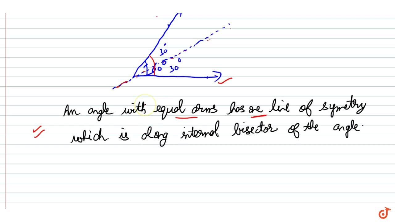 Solution for Lines of symmetry of an angle