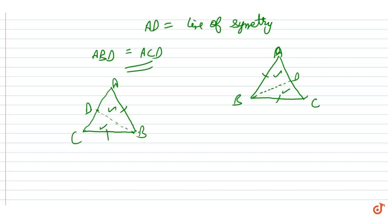 Solution for Lines of symmetry of an isosceles triangle