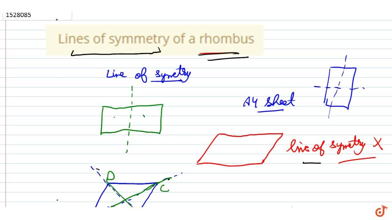 Solution for Lines of symmetry of a rhombus