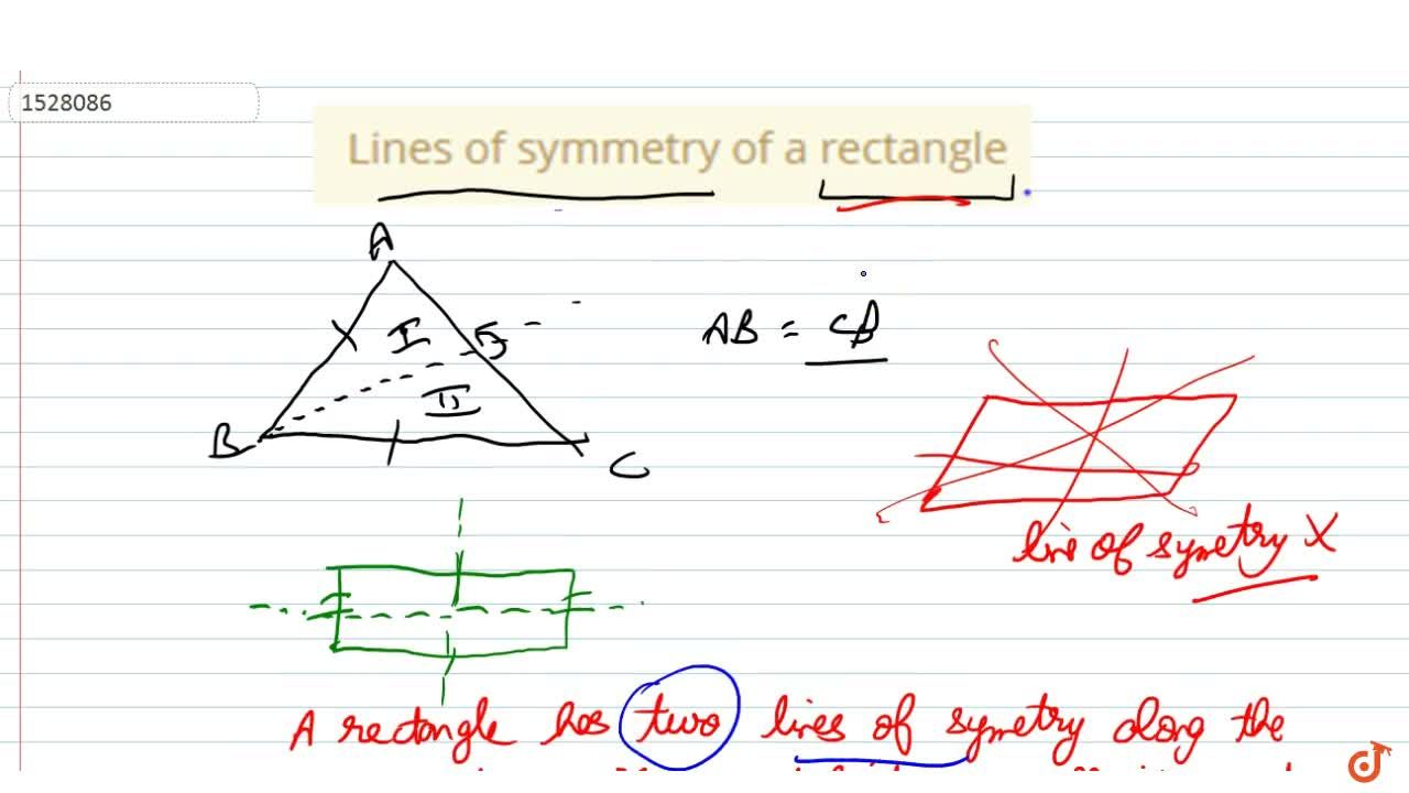 Solution for Lines of symmetry of a rectangle
