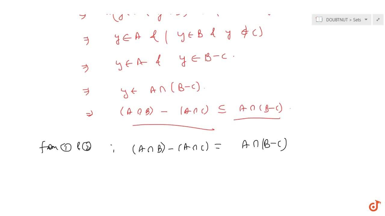 Solution for If A and B are two sets then Ann(B-C)=(AnnB)-(Ann