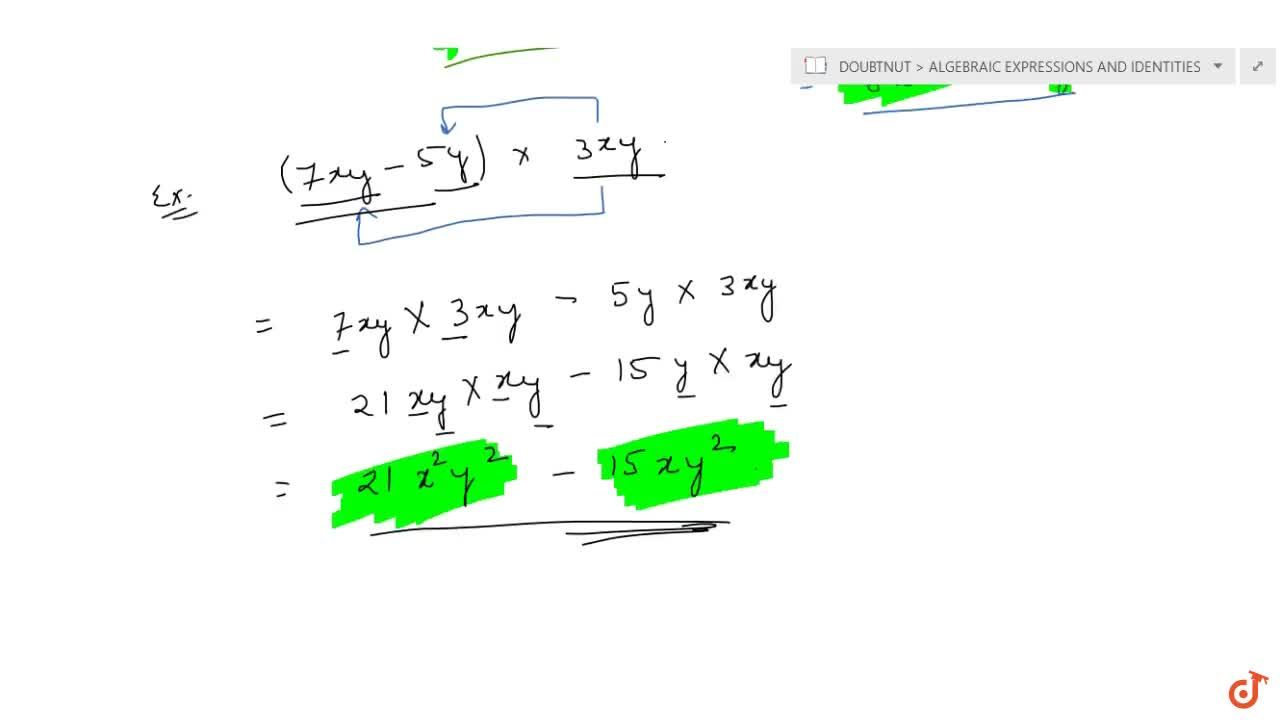 Solution for Multiplication of a monomial and a binomial
