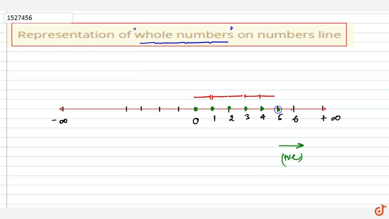 Solution for Representation of whole numbers on numbers line