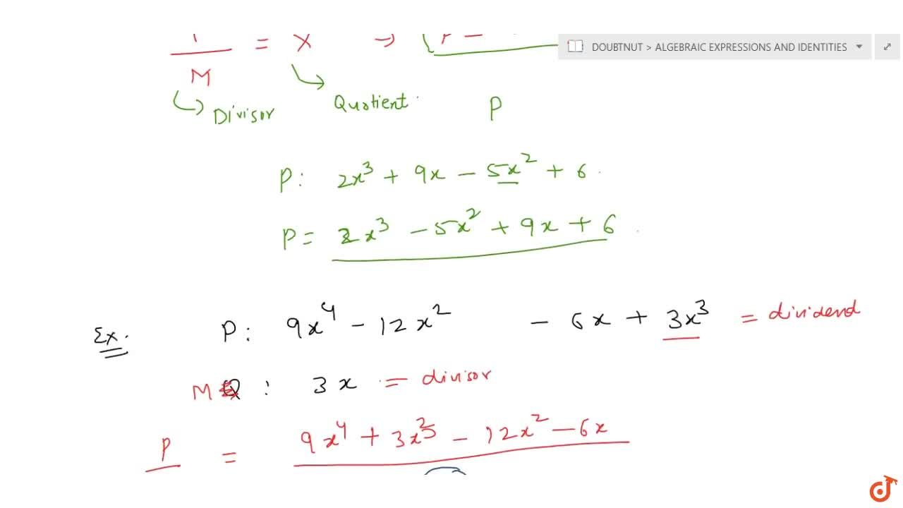 Solution for Division of a polynomial by a monomial