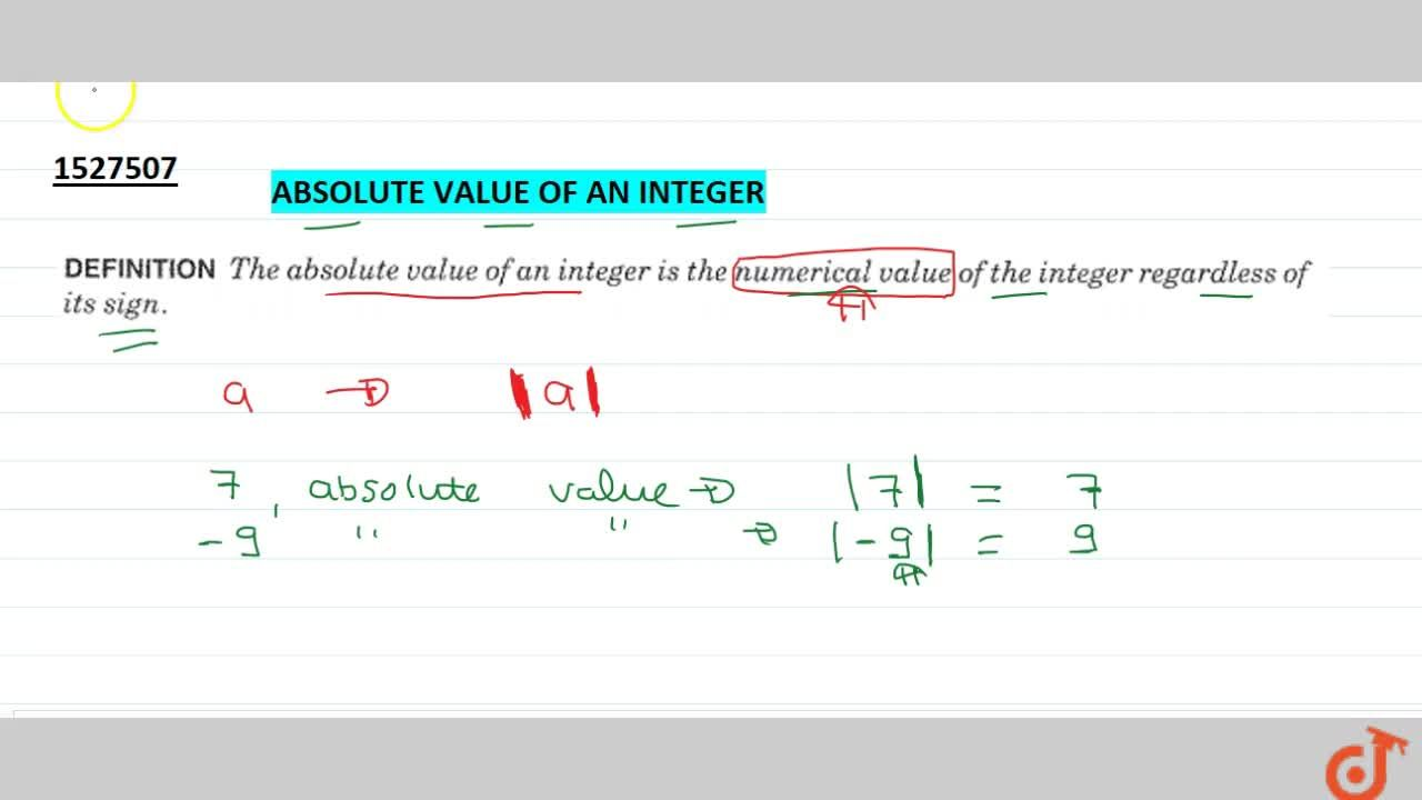 Solution for Absolute value of an integer