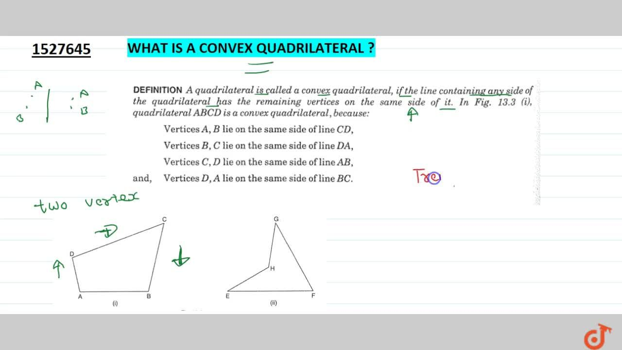 Solution for What is a Convex Quadrilateral?