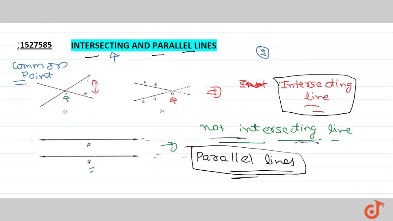 Solution for Intersecting and parallel lines