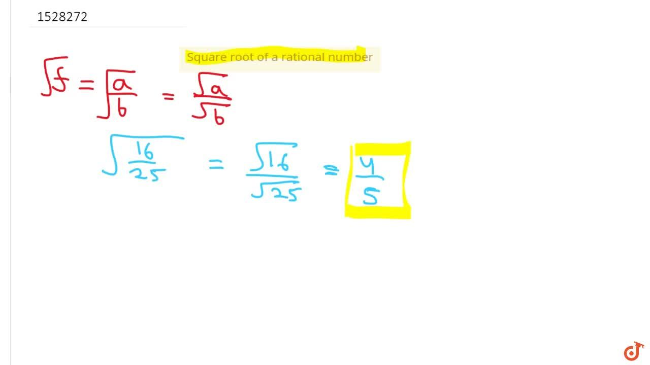 Solution for Square root of a rational number
