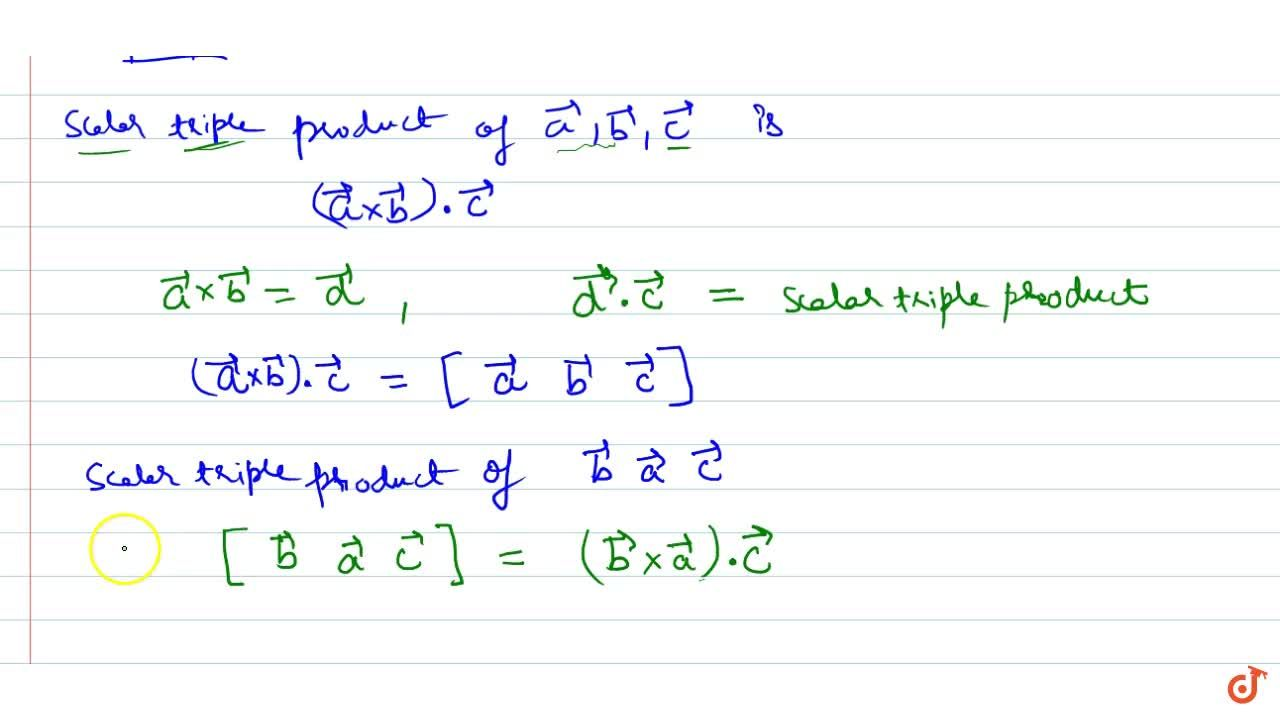 Introduction and definition of Scalar triple product