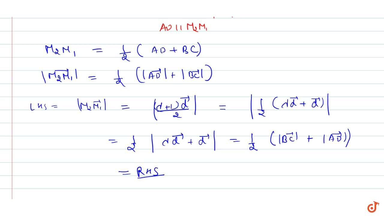 Solution for Examples: Prove that the segment joining the middl