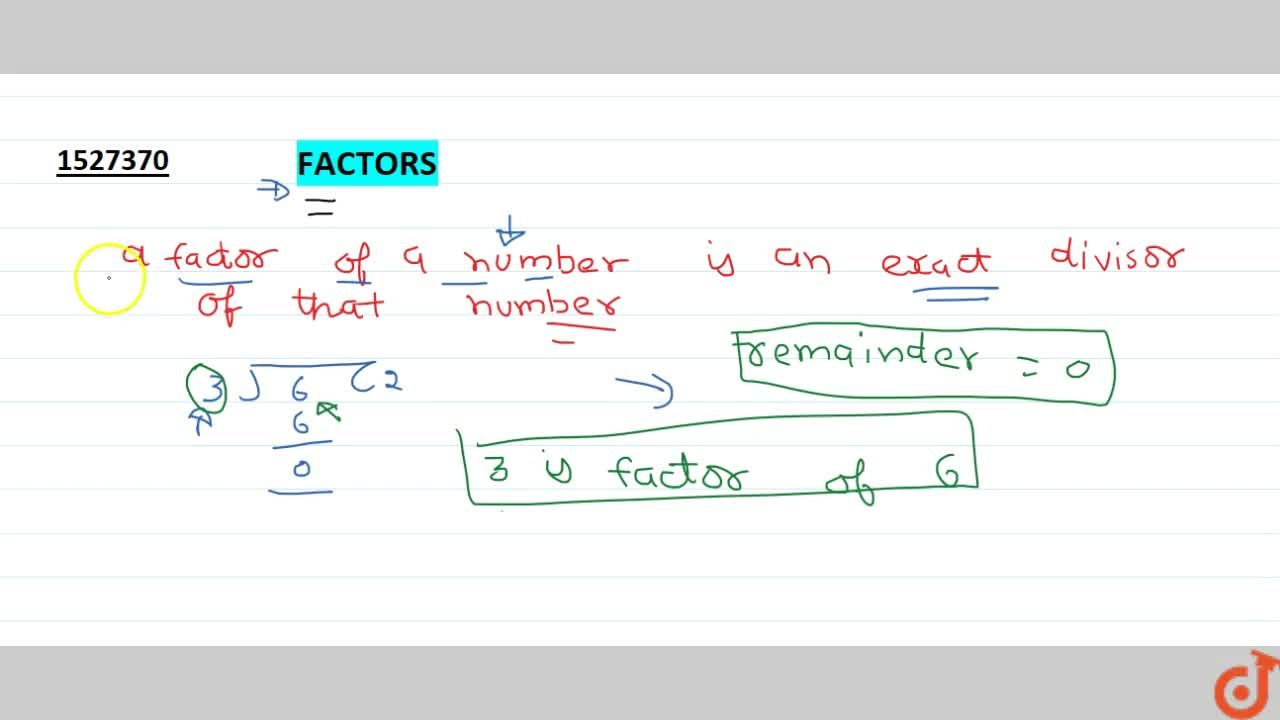 Solution for Factor