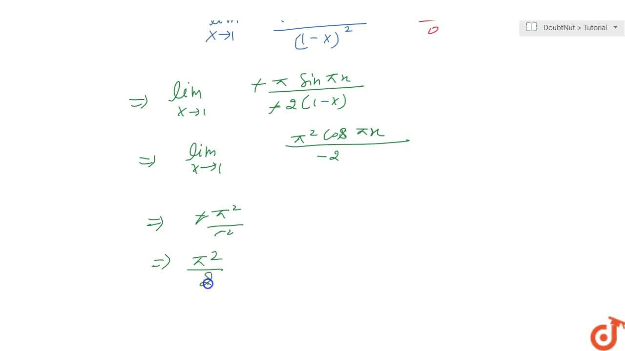 Solution for Evaluate the following limit: (lim)_(x->1)(1+cosp