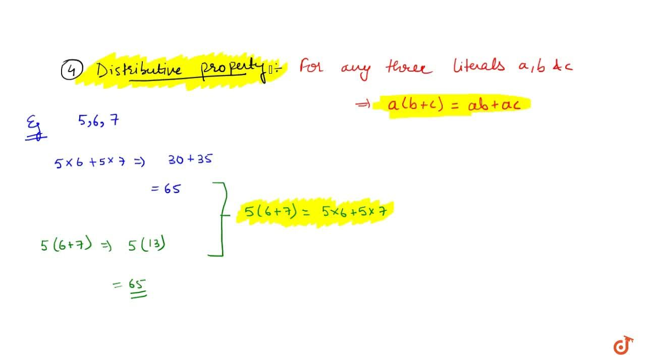 Solution for Distributivity of multiplication over addition : F