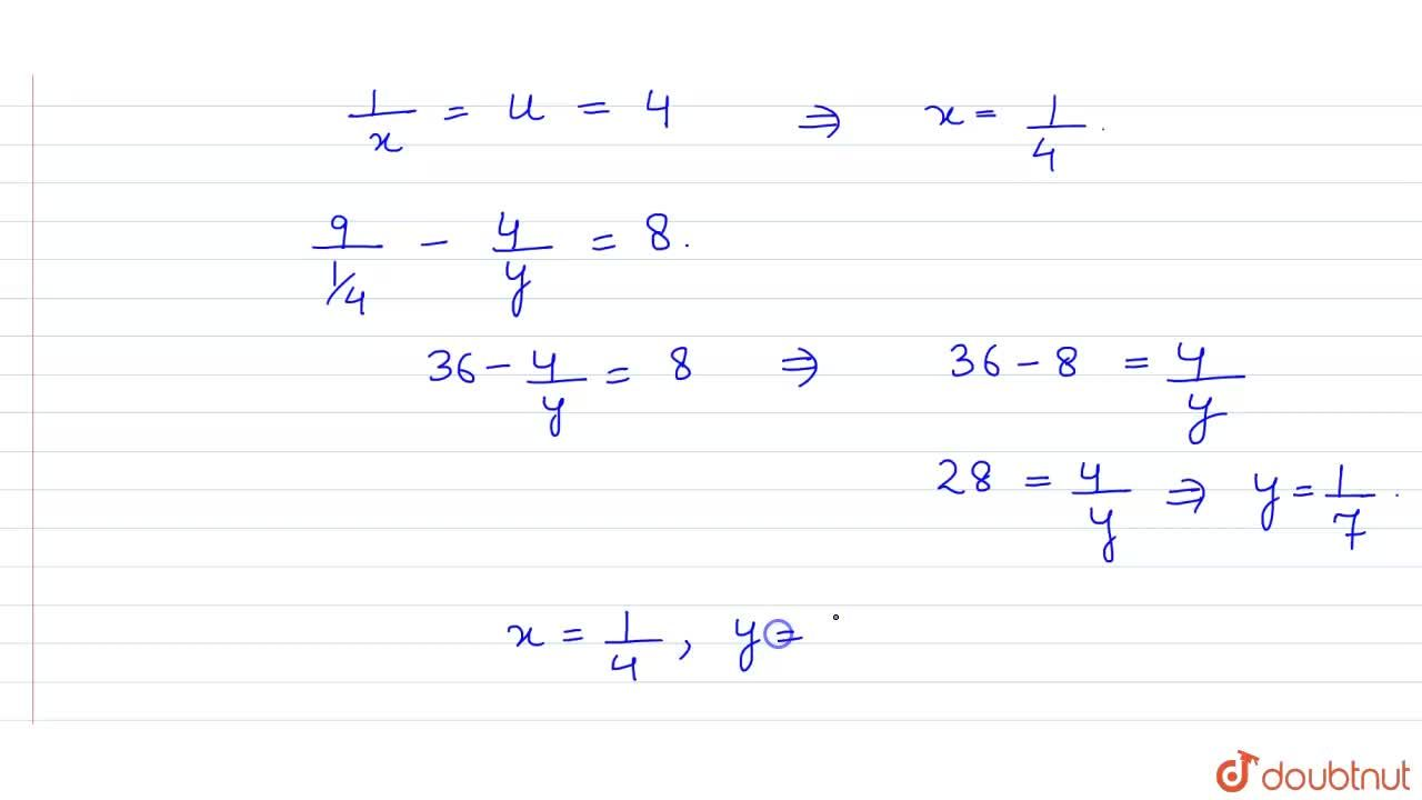 Solution for   ( 9),(x) -  ( 4),( y) = 8,  <br>   ( 13),(x)