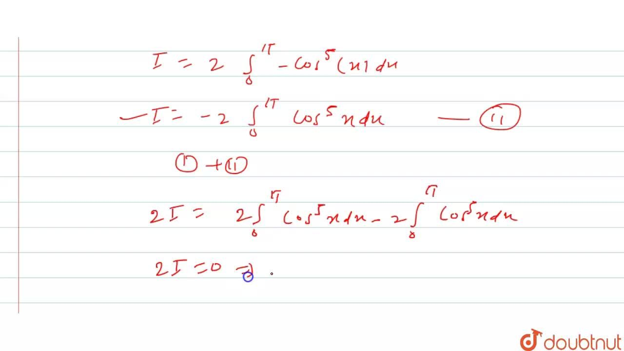 Solution for   int _0^(2pi)  cos ^(5)x  dx